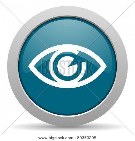 eye blue glossy web icon