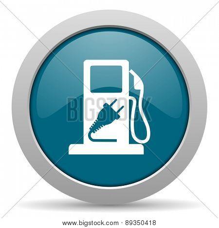 fuel blue glossy web icon