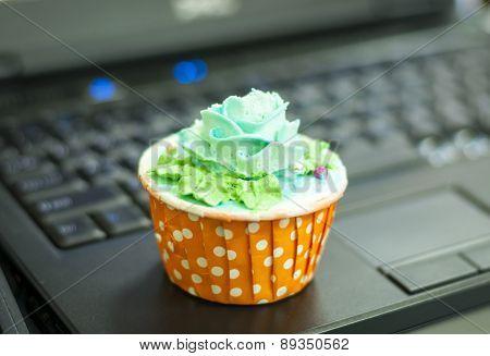 Green Cream Cupcake