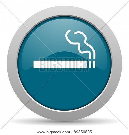 cigarette blue glossy web icon
