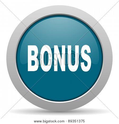 bonus blue glossy web icon