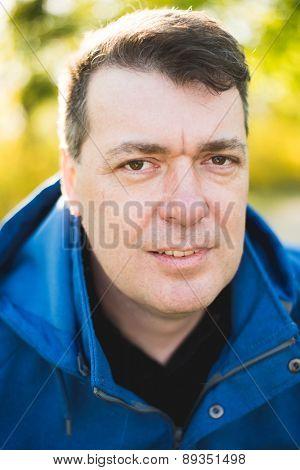 Man portrait outdoor