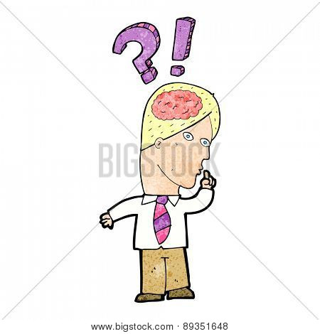 cartoon man asking question