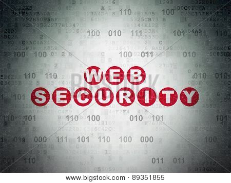 Web design concept: Web Security on Digital Paper background
