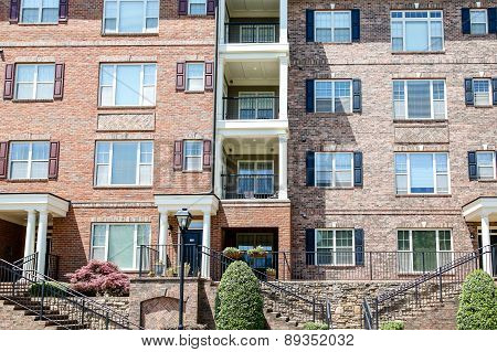 Brick Townhomes With Balconies