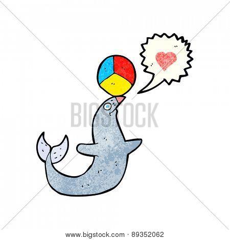 cartoon seal with ball