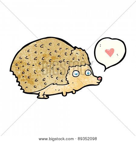 cartoon cute hedgehog