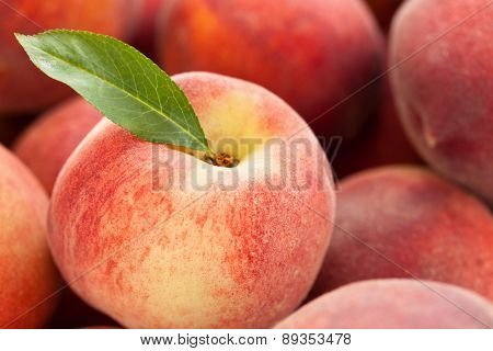 Fresh Peaches Background.