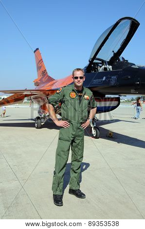 Pilot and F-16 Fighting Falcon.