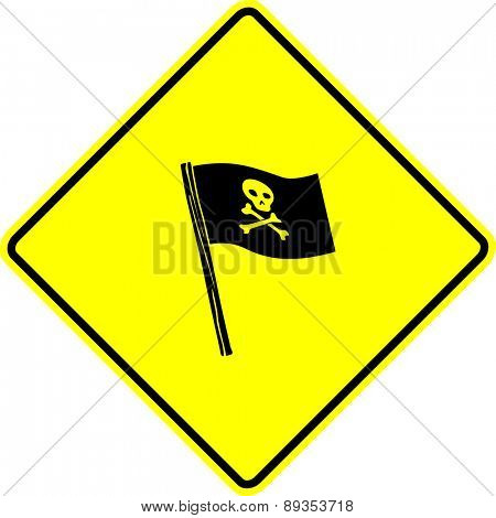 pirate flag sign