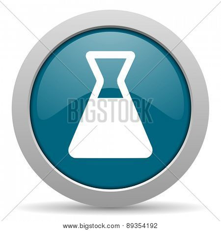 laboratory blue glossy web icon