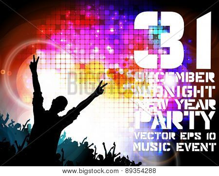 Night party, vector