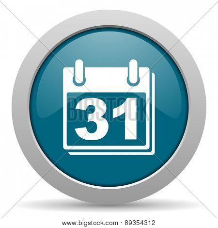 calendar blue glossy web icon