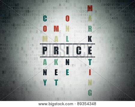 Marketing concept: word Price in solving Crossword Puzzle