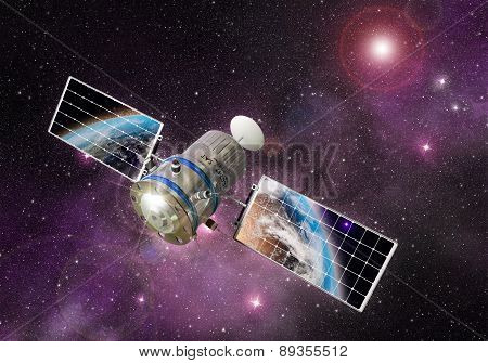 satellite orbiting the earth