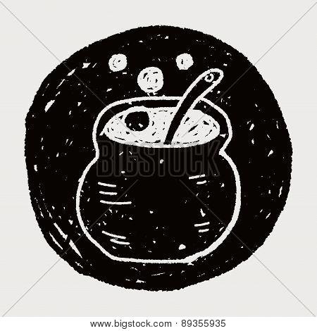 Halloween Cauldron Doodle