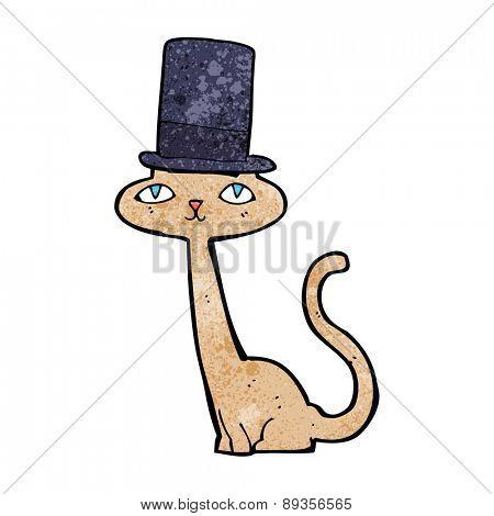 cartoon cat wearing top hat