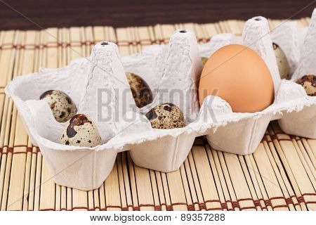 Snapshot Of Chicken And Quail Eggs