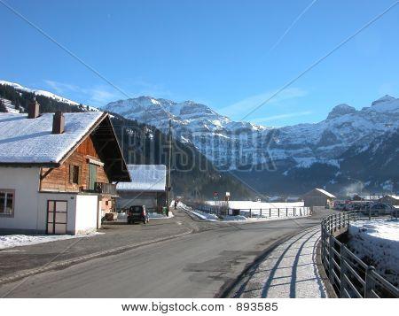 Mountains Of Lenk, Switzerland In Winter