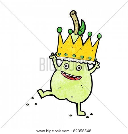 cartoon pear wearing crown