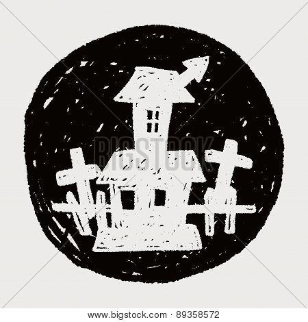 Halloween House Doodle