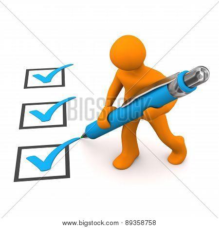 Manikin Checklist Ballpen
