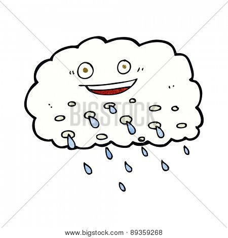 cartoon happy raincloud