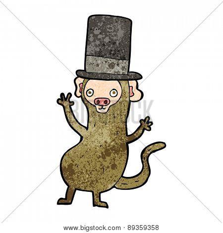 cartoon monkey in top hat