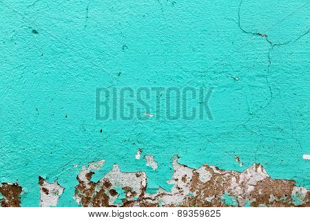 Turquoise Paint Background