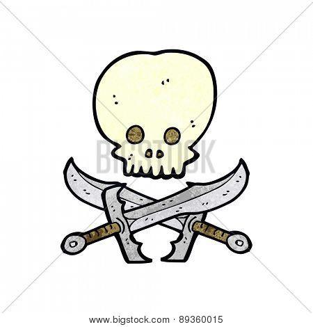 cartoon skull and swords symbol