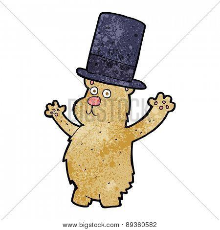 cartoon bear in top hat