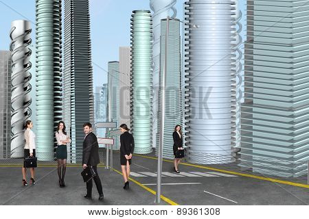 Businesspeople in the city