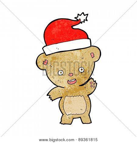 cartoon christmas teddy bear