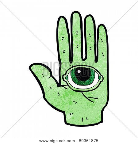 spooky cartoon hand