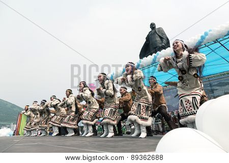Concert Of Koryak National Dance Ensemble Mengo. Kamchatka, Russia