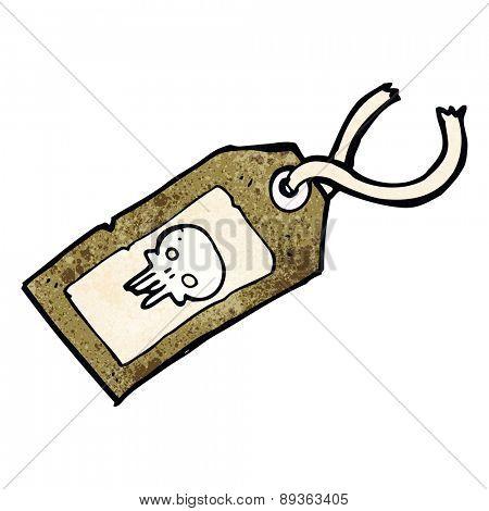 skull luggage tag