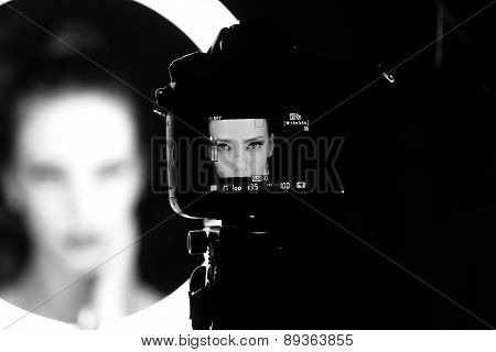 Portrait Of A Beautiful Woman In The Studio, Backstage
