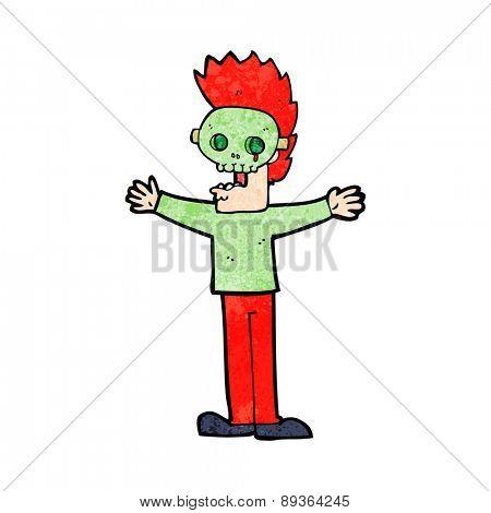 cartoon man in halloween mask