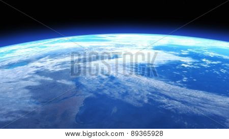 Digital 3D Illustration Of A Space Scene