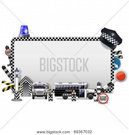 Vector Police Frame