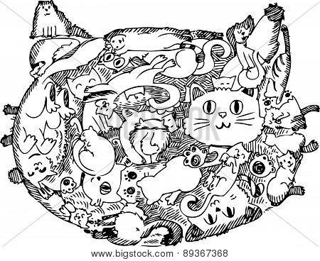 Cat face doodle