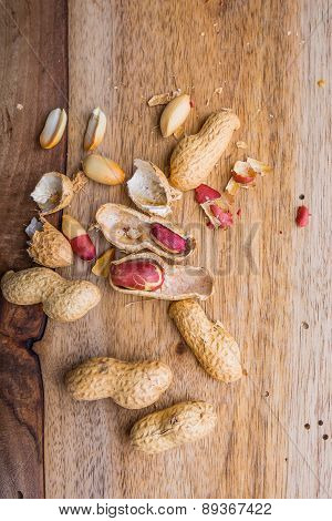 Peanuts On The Old Kitchen Board