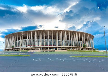 BRASILIA, BRAZIL - CIRCA MARCH 2015: The Famous Stadium Mane Garrincha in Brasilia the capital of Brazil.