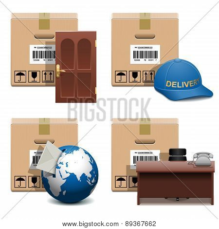 Vector Shipment Icons Set 28