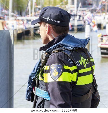 Policeman Guarding
