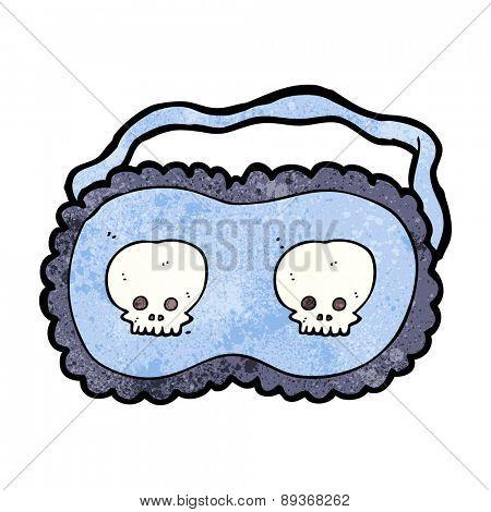 cartoon skull sleeping mask