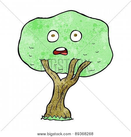 cartoon unhappy tree