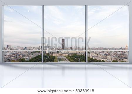 Large Clean Designer Office Window To Skyline