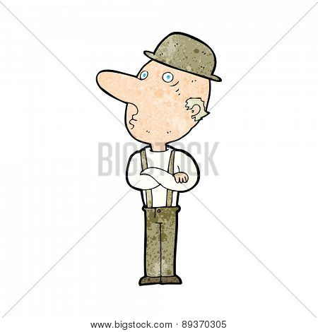 cartoon man in hat