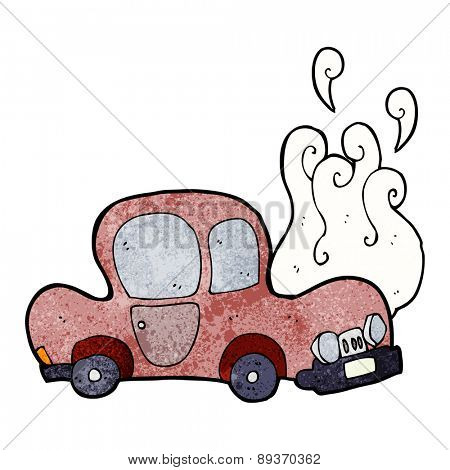 broken down car cartoon